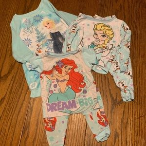 Toddler girls pajama lot - Elsa and Ariel!